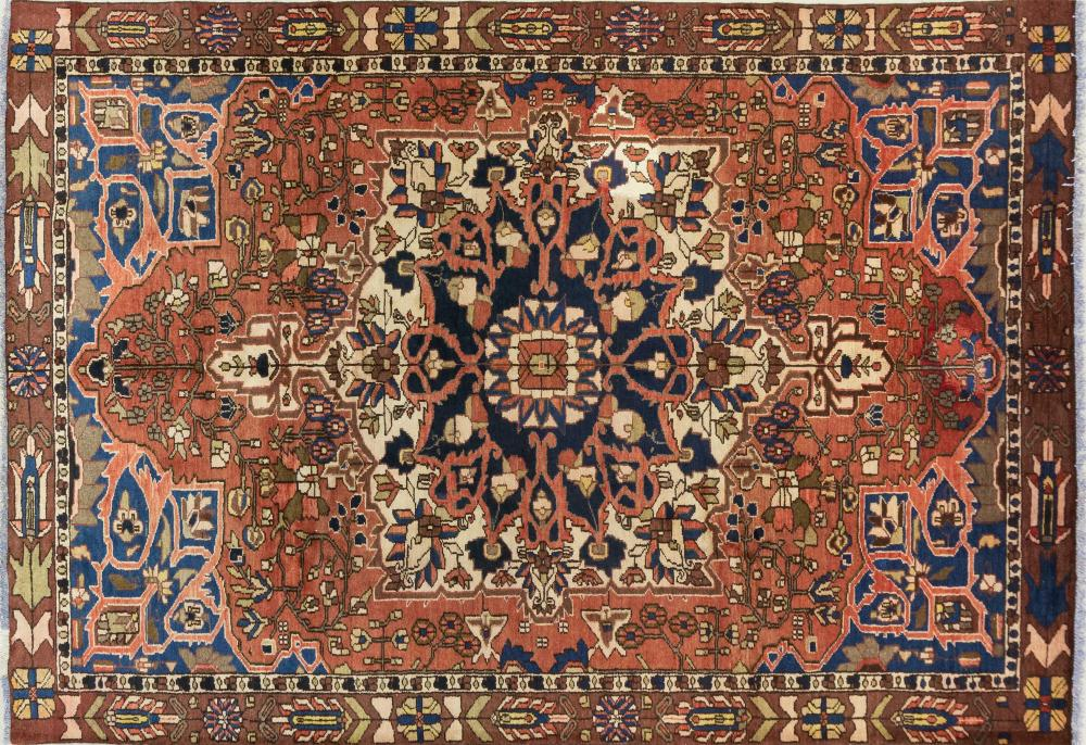 A Persian Hand Knotted Bakhtiari Carpet, 285 X 197
