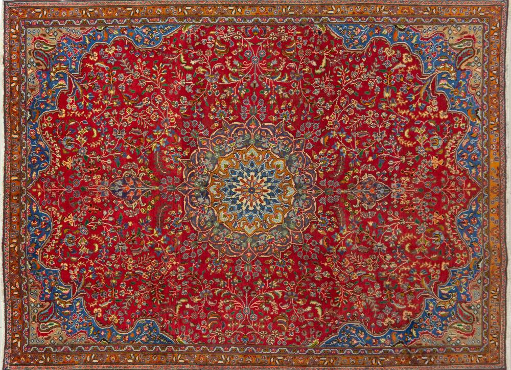A Persian Hand Knotted Tabriz Carpet, 304 X 227