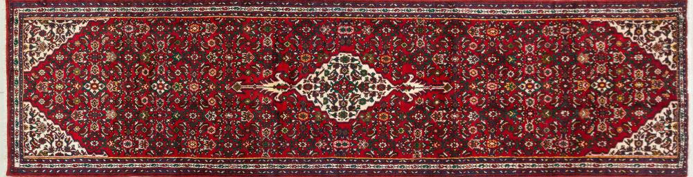 A Persian Hand Knotted Hosseinabad Runner, 443 X 115