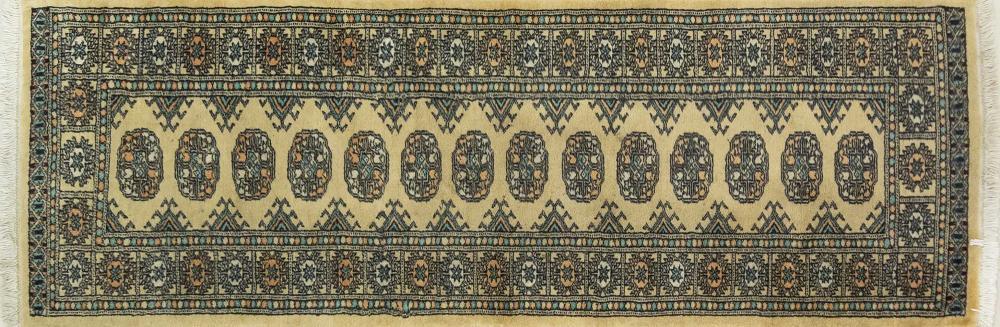 A Persian Hand Knotted Mori Bokhara Runner, 182 X 64