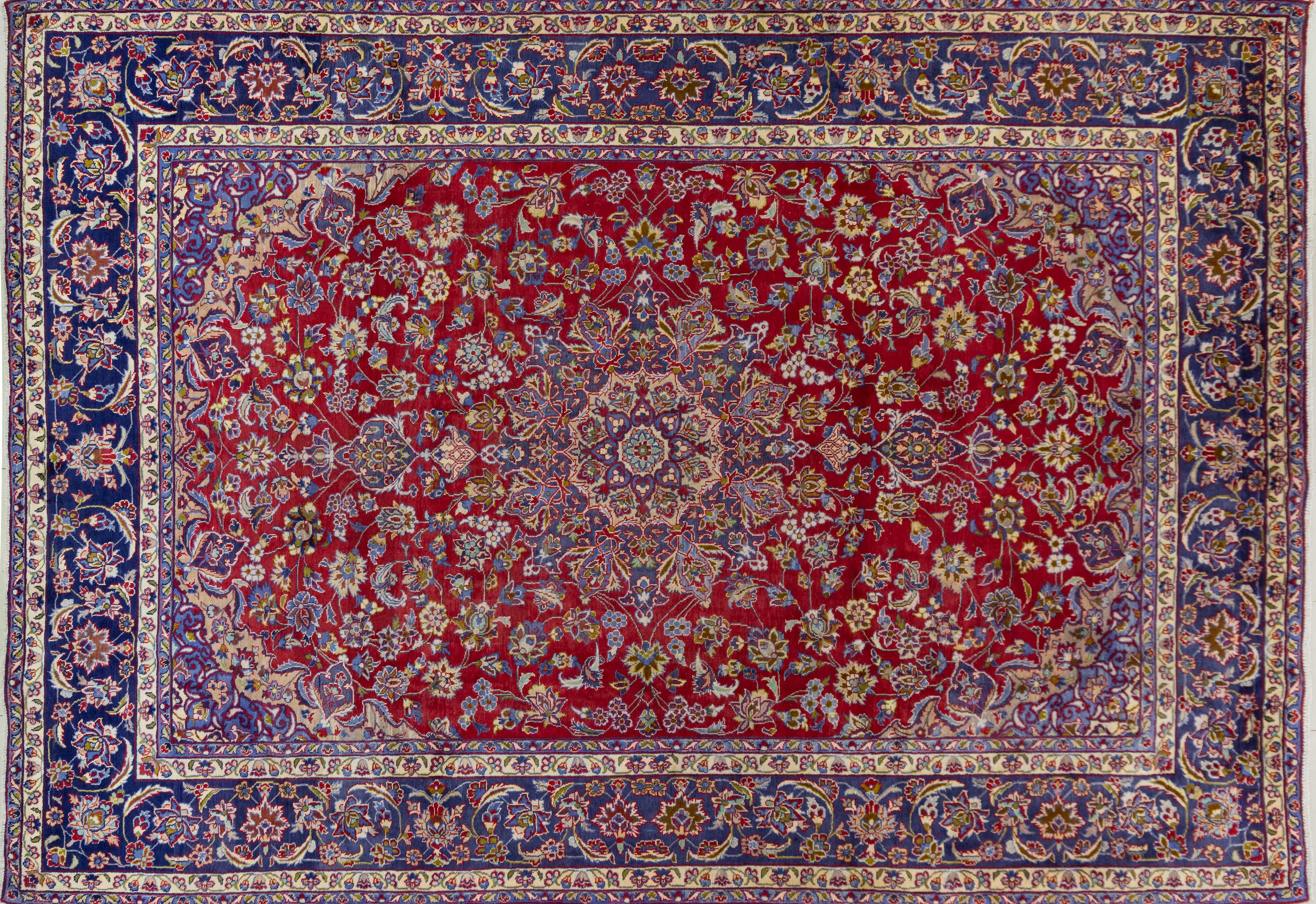 A Persian Hand Knotted Najafabad Carpet, 413 X 288