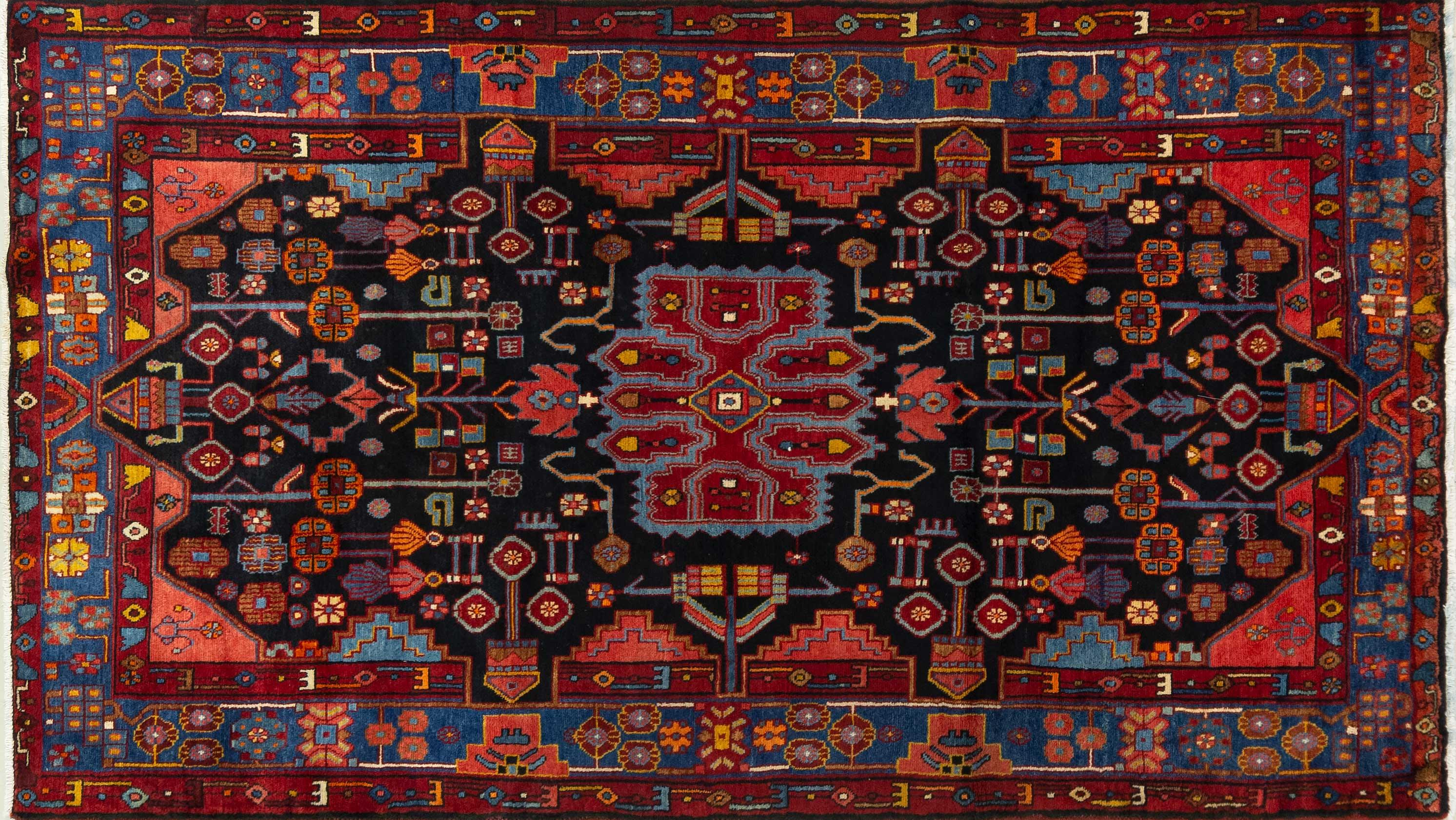 A Persian Hand Knotted Hamadan Rug, 261 X 148