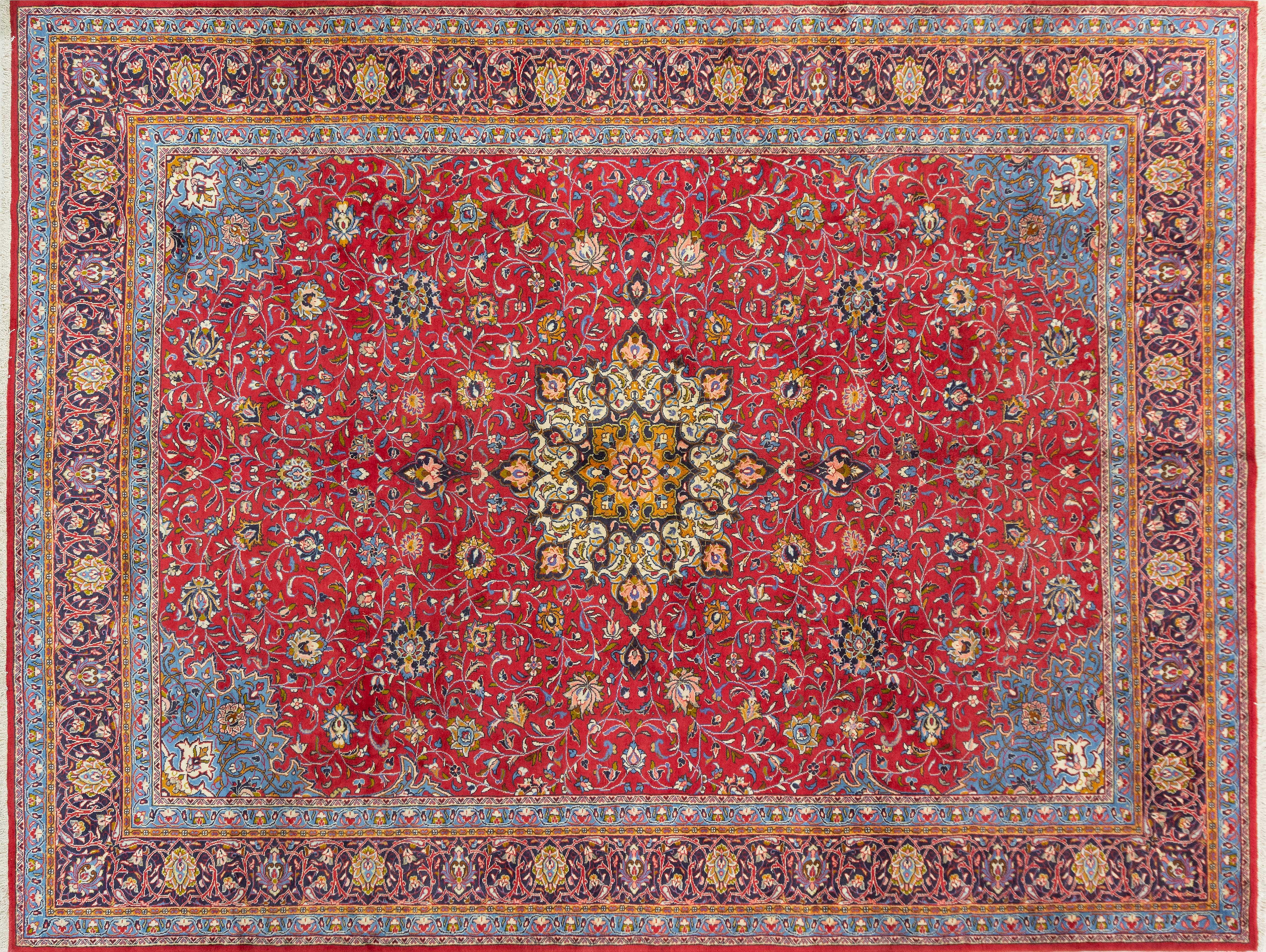 A Persian Hand Knotted Sarough Carpet, 397 X 305