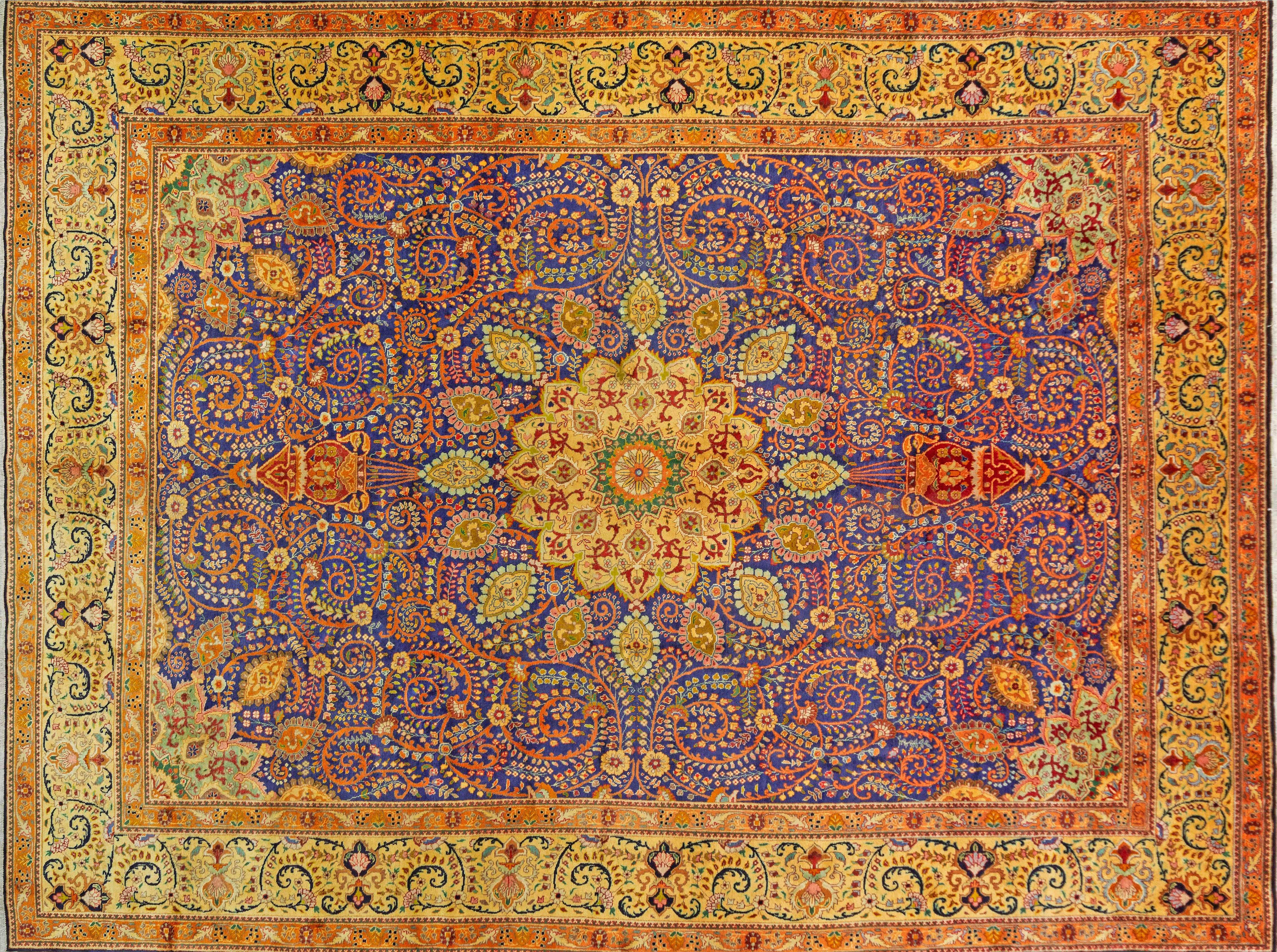 A Persian Hand Knotted Tabriz Carpet, 398 X 298