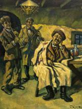 Deszo Koenig (SA 1902 - 1972) Oil, Tavern Scene, Signed, 60 x 50