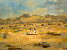 """P.D. van Blommestein (SA 20th C) Oil, """"The African Scene"""", Signed & Dated '73 Titled Verso, 70 x 100"""