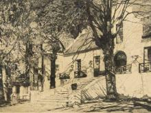"""Hilda Mary Pemberton (SA 20th C) Etchings, """"Rheezicht Gardens Cape Town"""", Signed & Titled in Pencil, 17 x 22"""