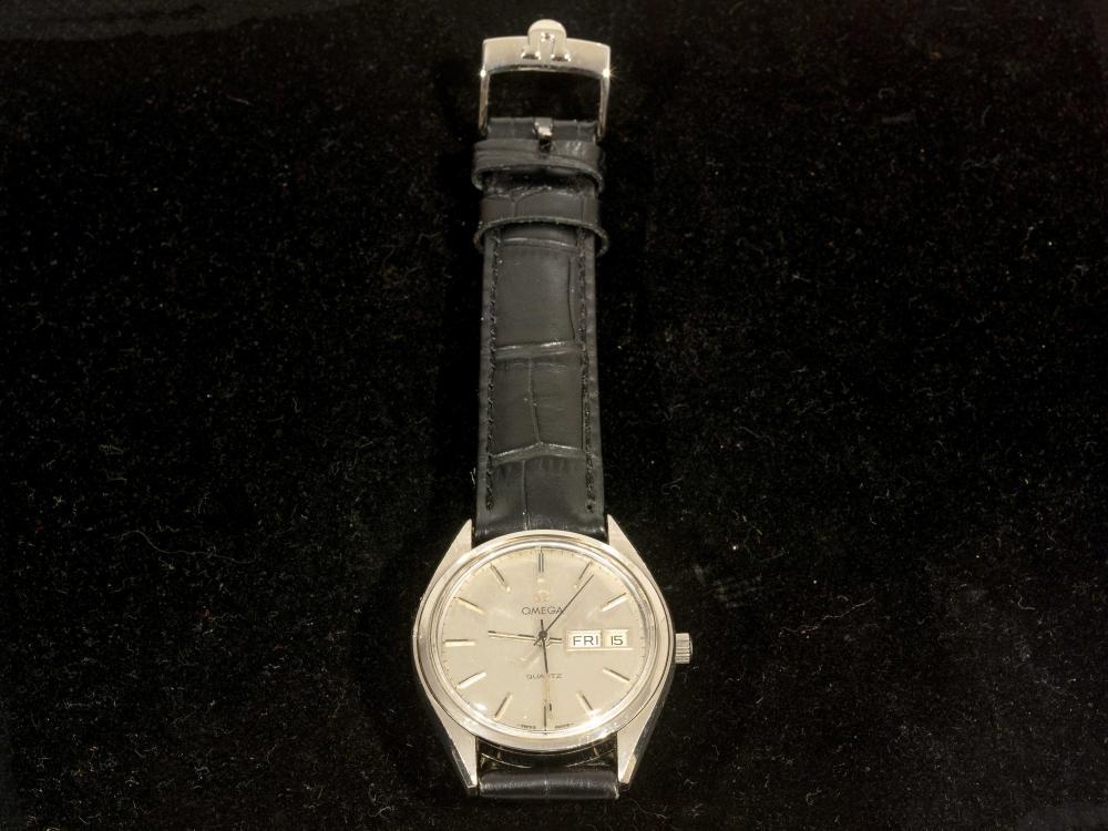A Vintage Omega Quartz Gents Wristwatch Cal 1345. 35mm excl crown, A/F