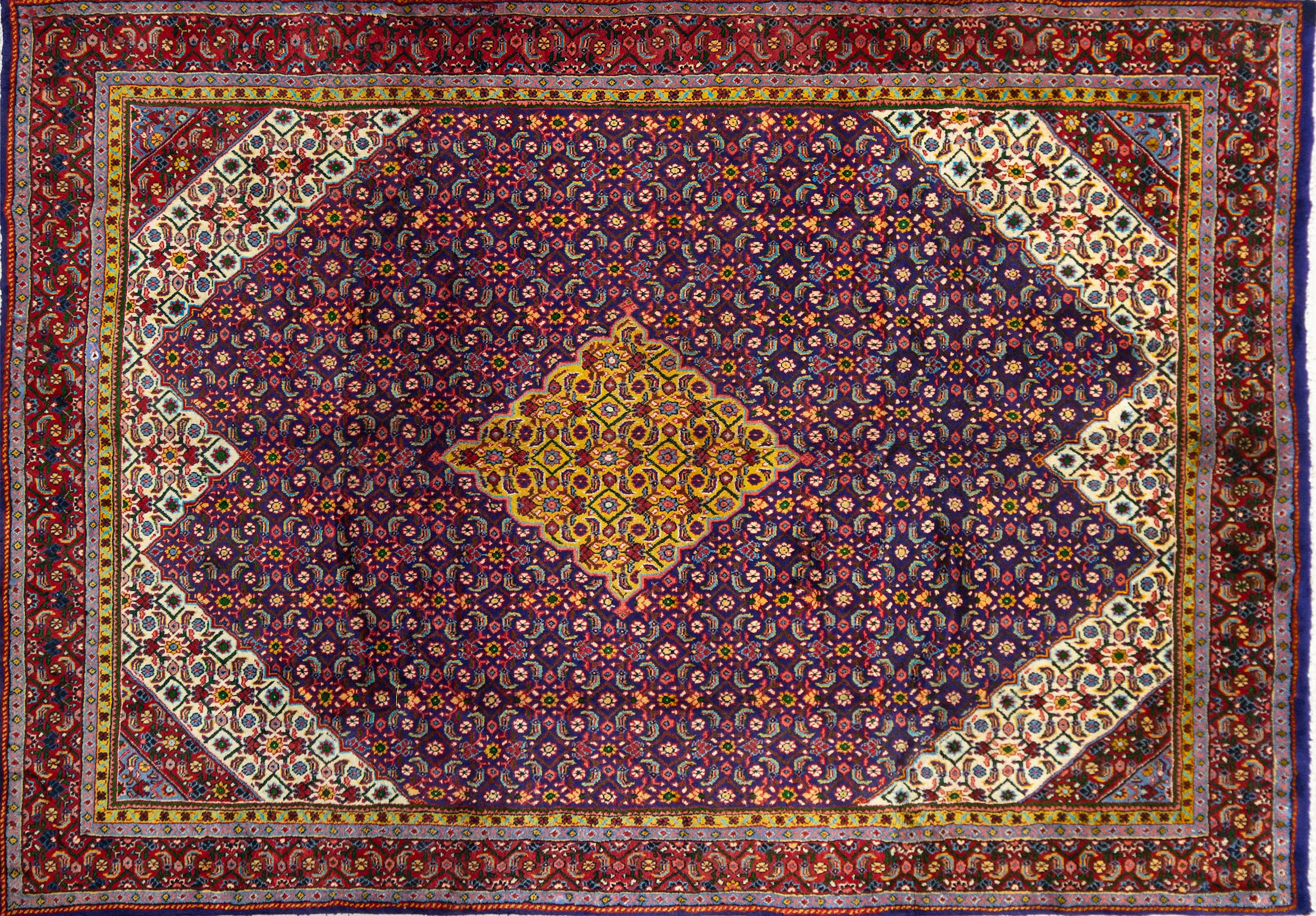 A Persian Hand Knotted Mahal Carpet, 305 x 212