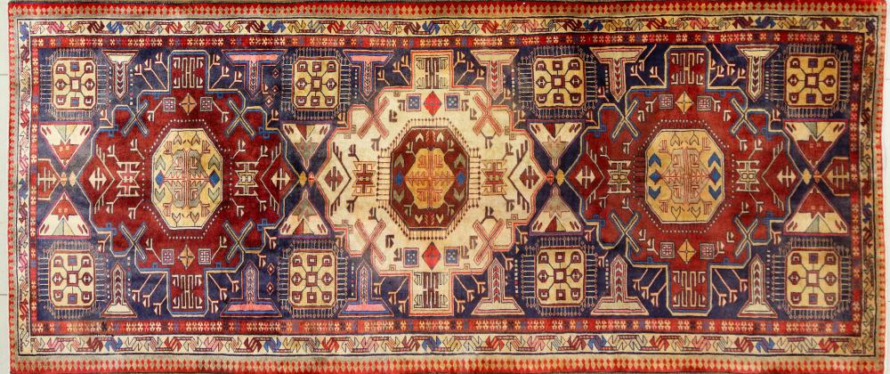 A Persian Hand Knotted Ardebil Runner, 320 x 136