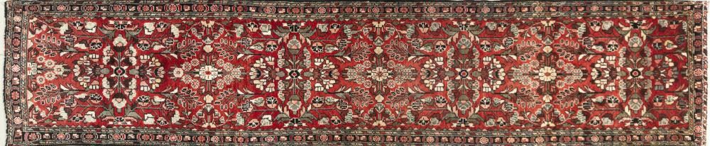 A Persian Hand Knotted Hamadan Runner, 415 x 85