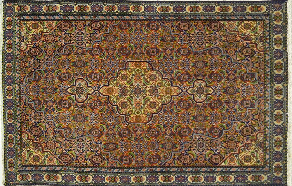 A Persian Hand Knotted Bidjar Rug, 125 x 82