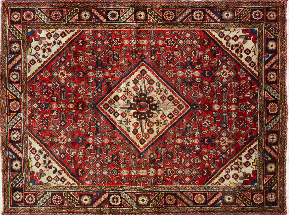 A Persian Hand Knotted Hamadan Rug, 210 x 160