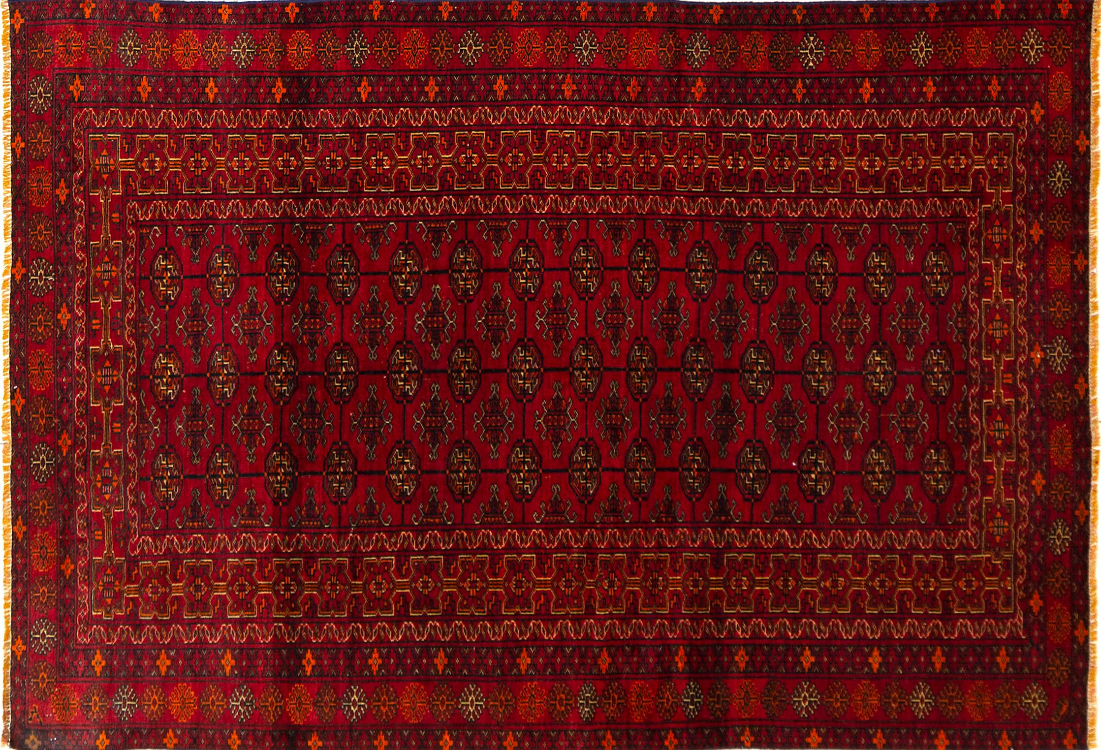 A Persian Hand Knotted Turkaman Rug, 200 x 135