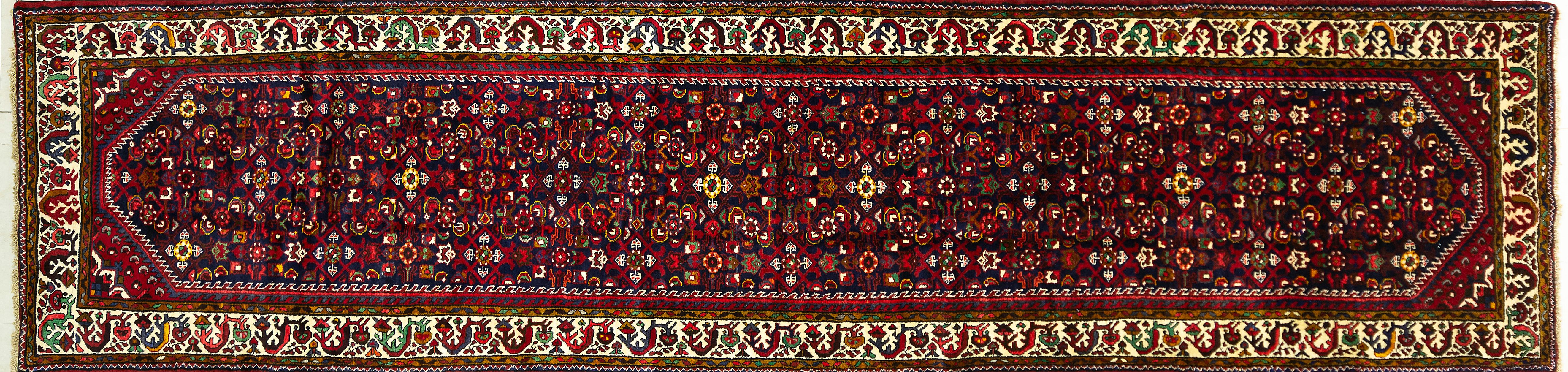 A Persian Hand Knotted Hamadan Runner, 470 x 113