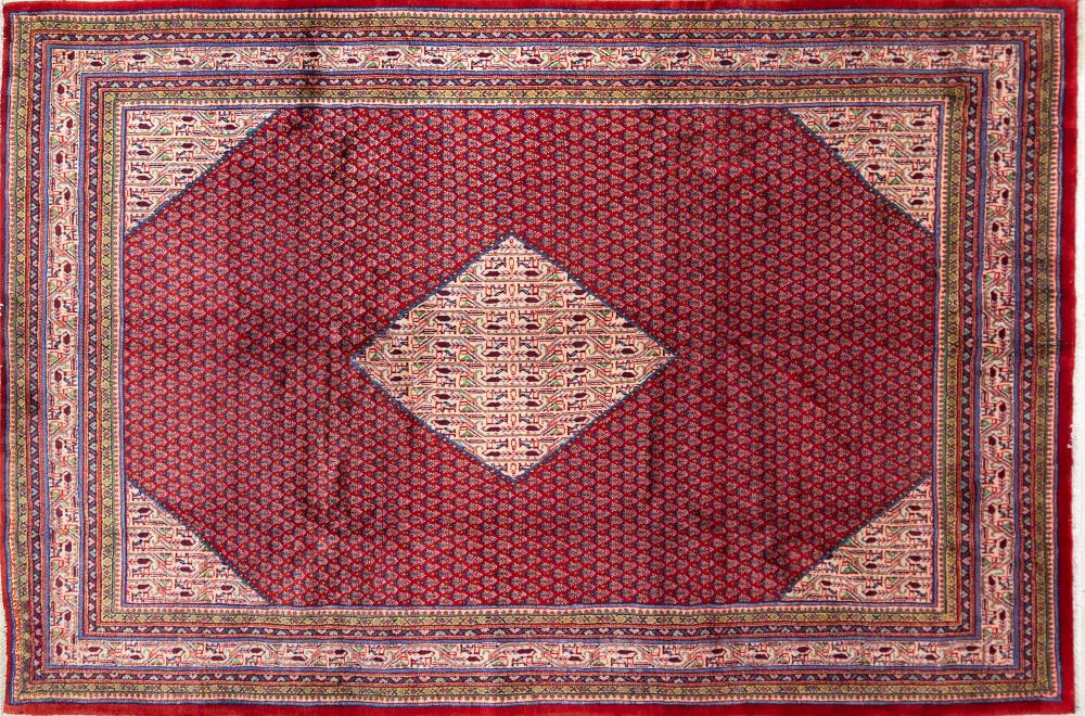 A Persian Hand Knotted Mir Carpet, 320 x 210