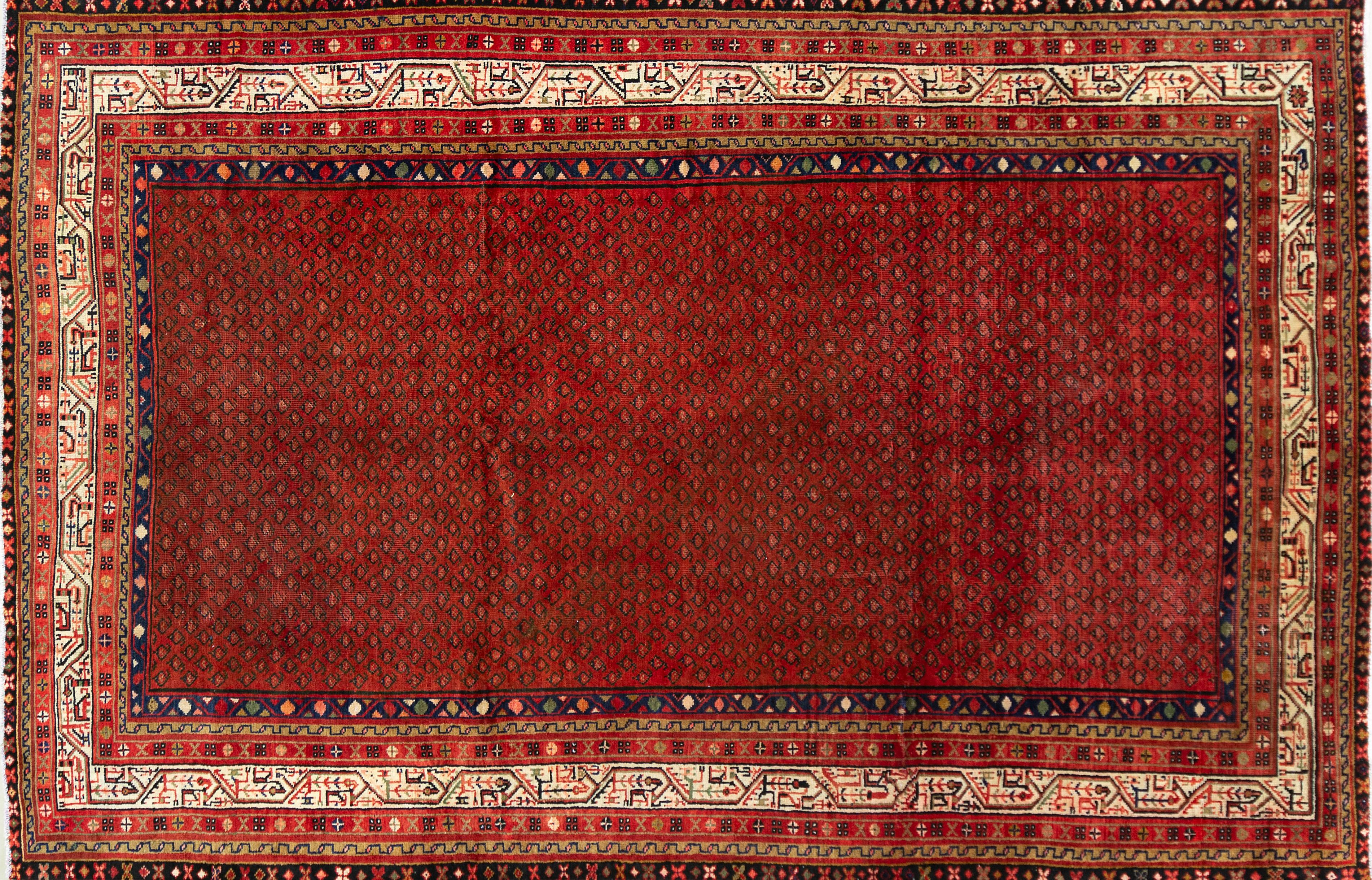 A Persian Hand Knotted Mir Carpet, 340 x 218