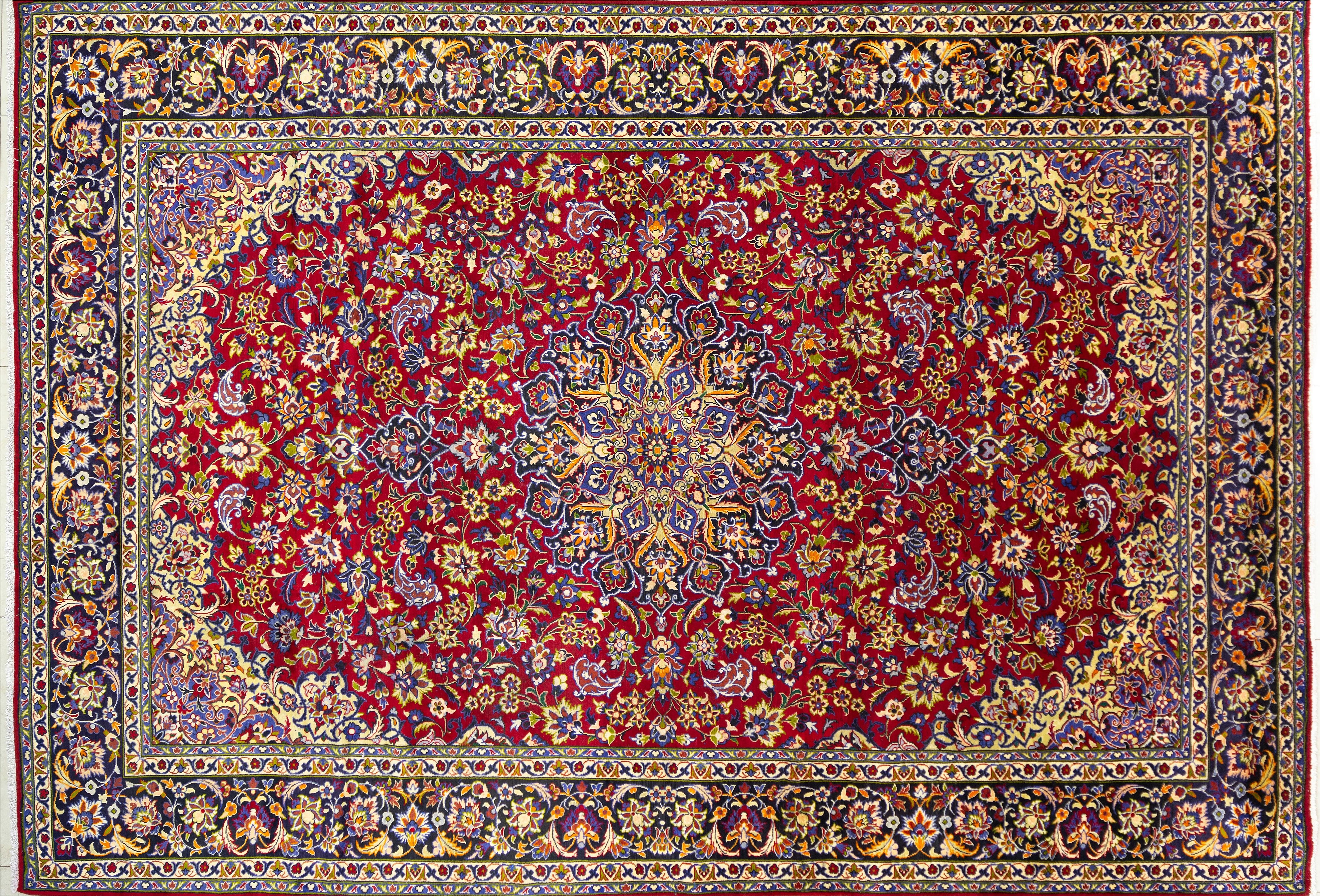 A Persian Hand Knotted Najafabad Carpet, 420 x 292