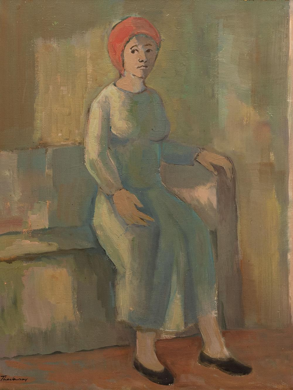 James Thackwray (SA 1919 - 1994) Oil, Seated Woman, Signed, 60 x 50