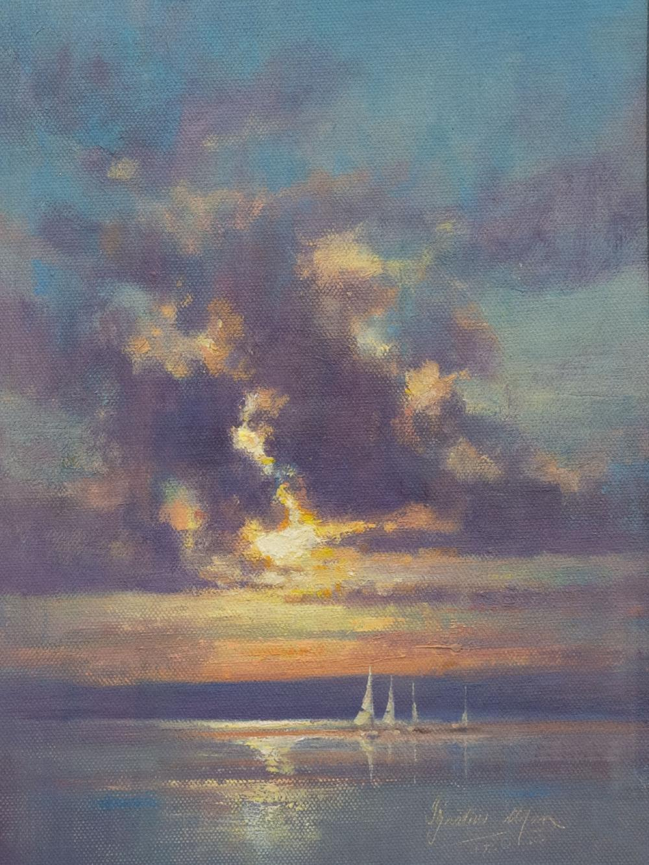"Ignatius Marx (SA, born 1962) Oil, ""Knysna Regatta"", Signed Titled Verso, 30 x 22"