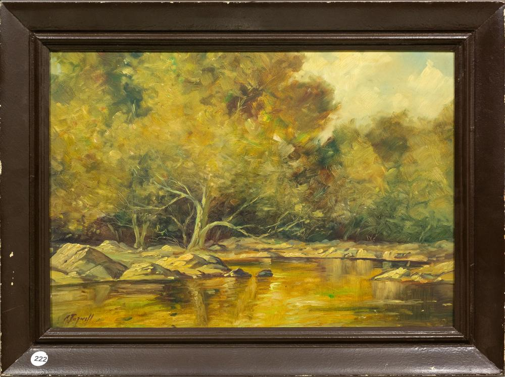 Chris Tugwell (SA, born 1938) Oil, River Landscape, Signed, 35 x 50