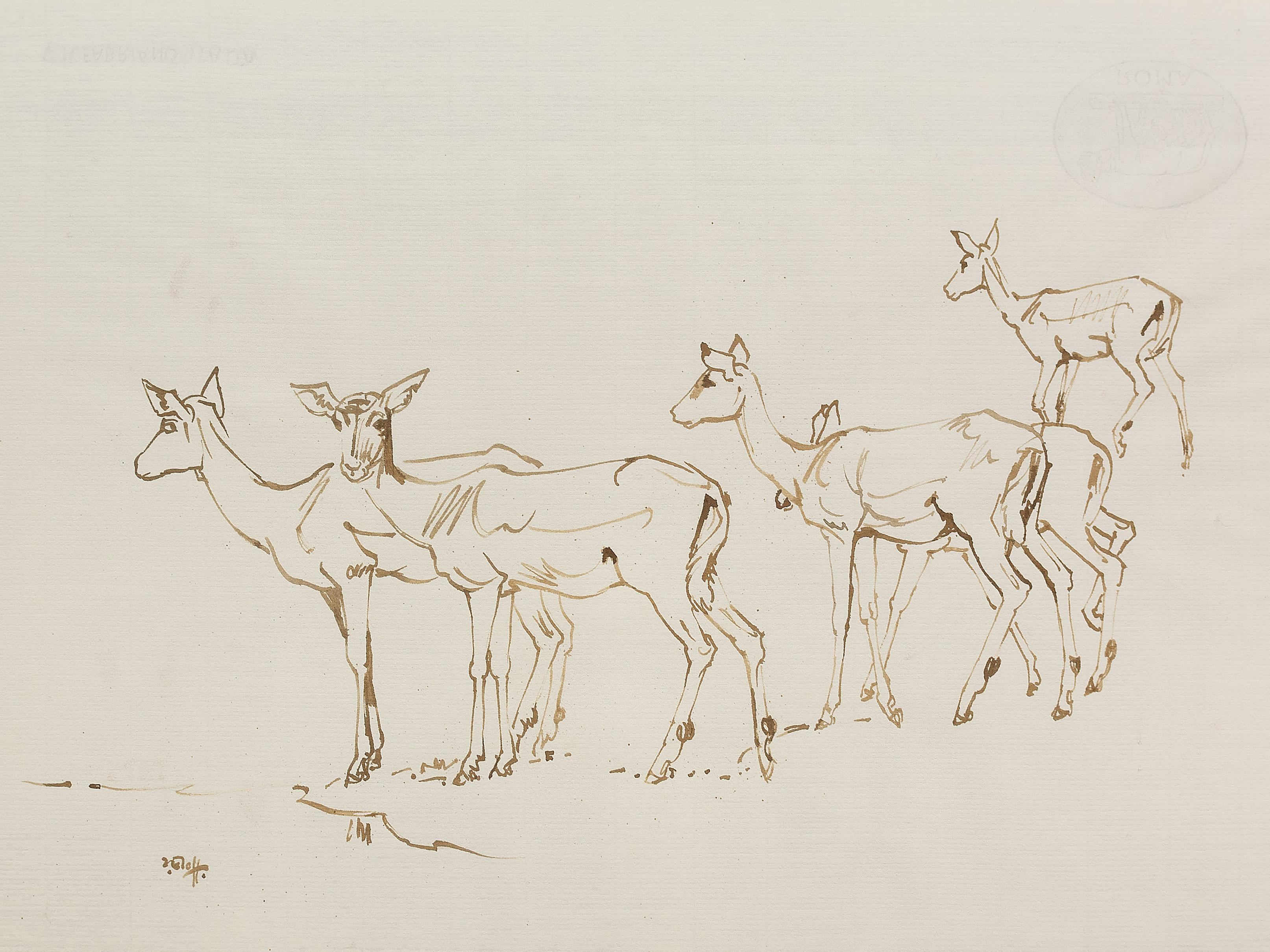 Zakkie Eloff (SA 1925 - 2004) Watercolour, Impala, Signed, 49 x 66