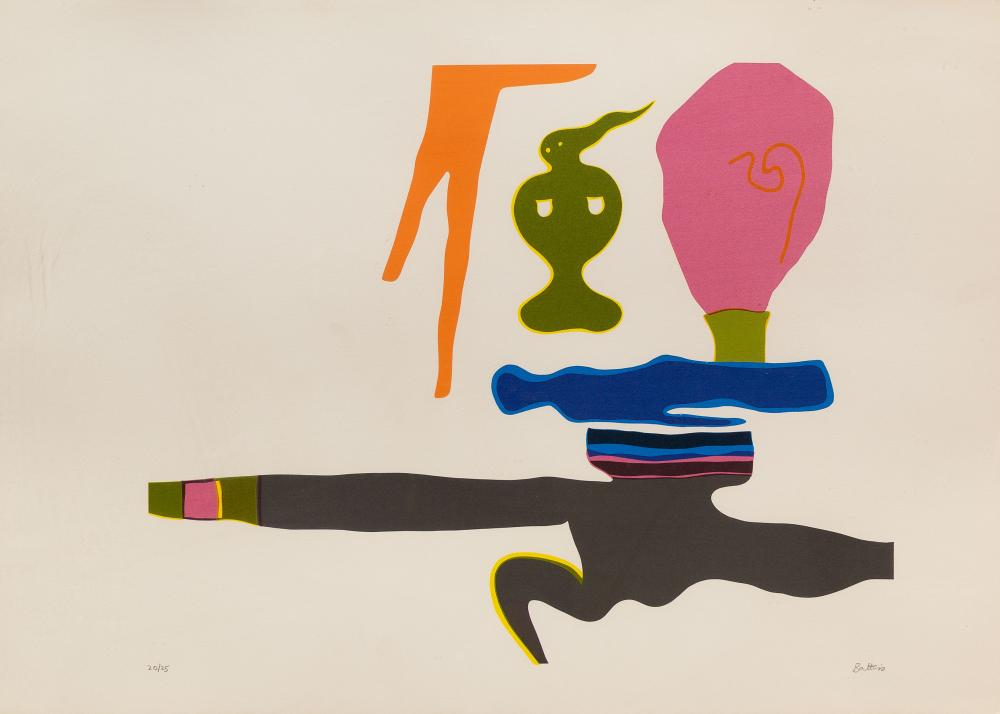 Walter Battiss (SA 1906 - 1982) Screenprint, Abstract, Signed & Numbered 20/25 in Pencil, 44 x 63 sheet size