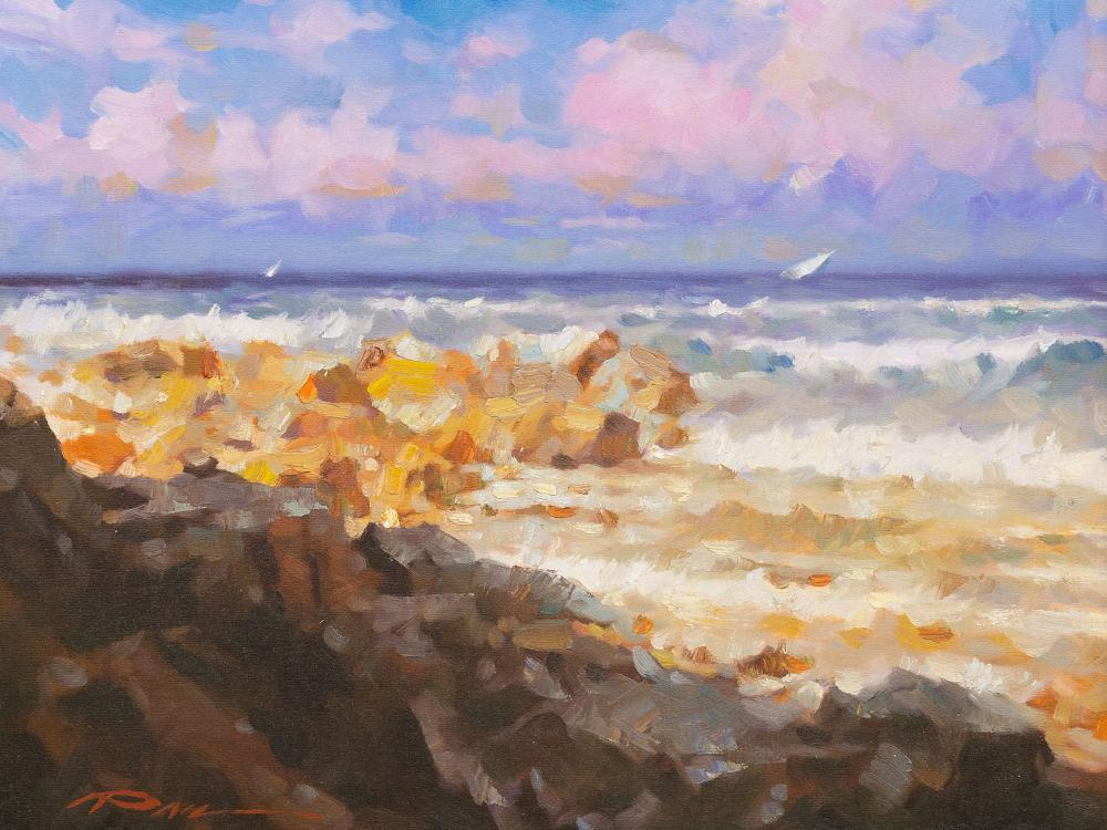 Stephen Pan (Chinese, born 1963) Oil, Seascape, Signed, 40 x 60