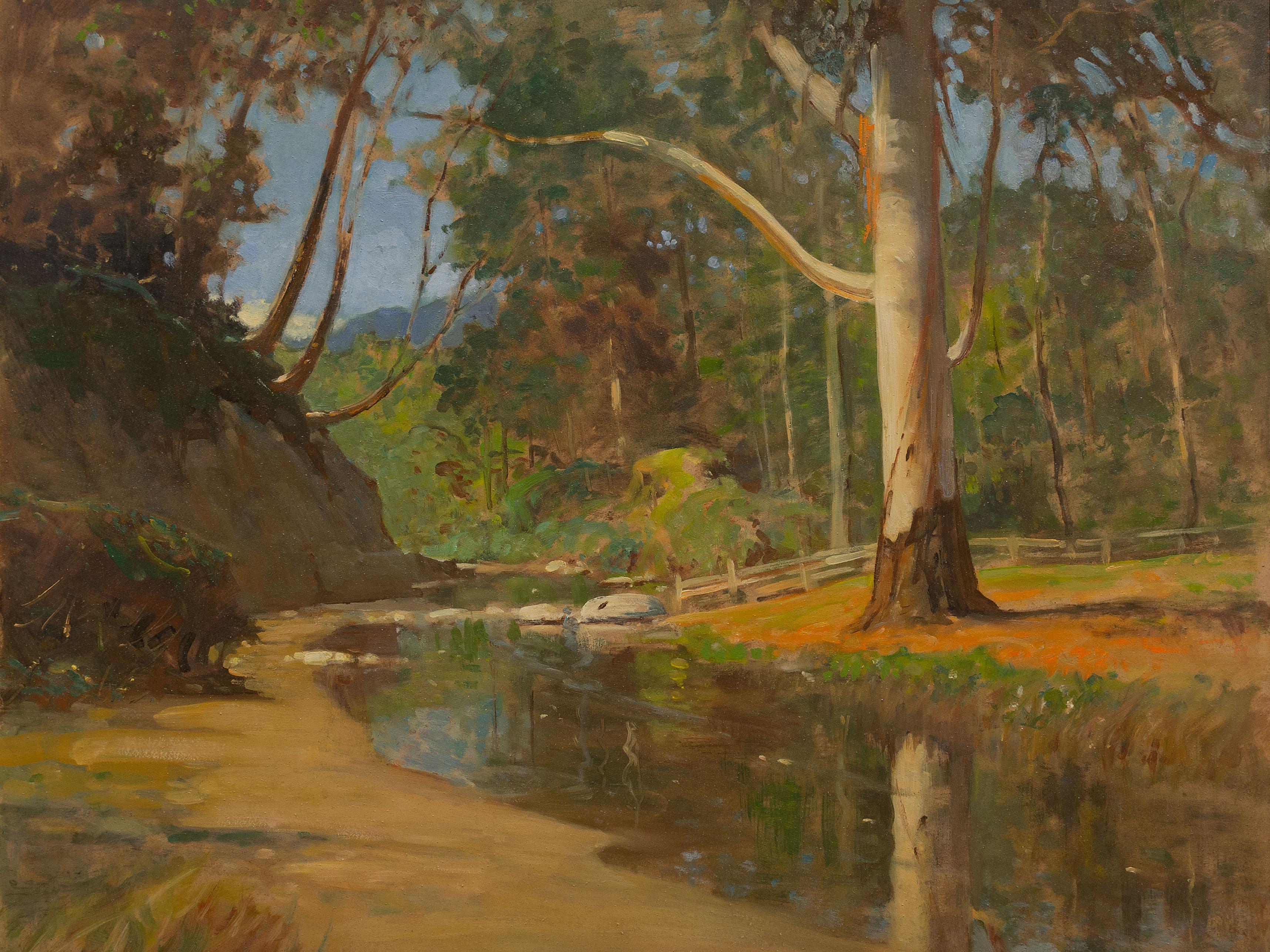 W.G. Wiles (SA 1875 - 1966) Oil, River Landscape, Signed, 60 x 75