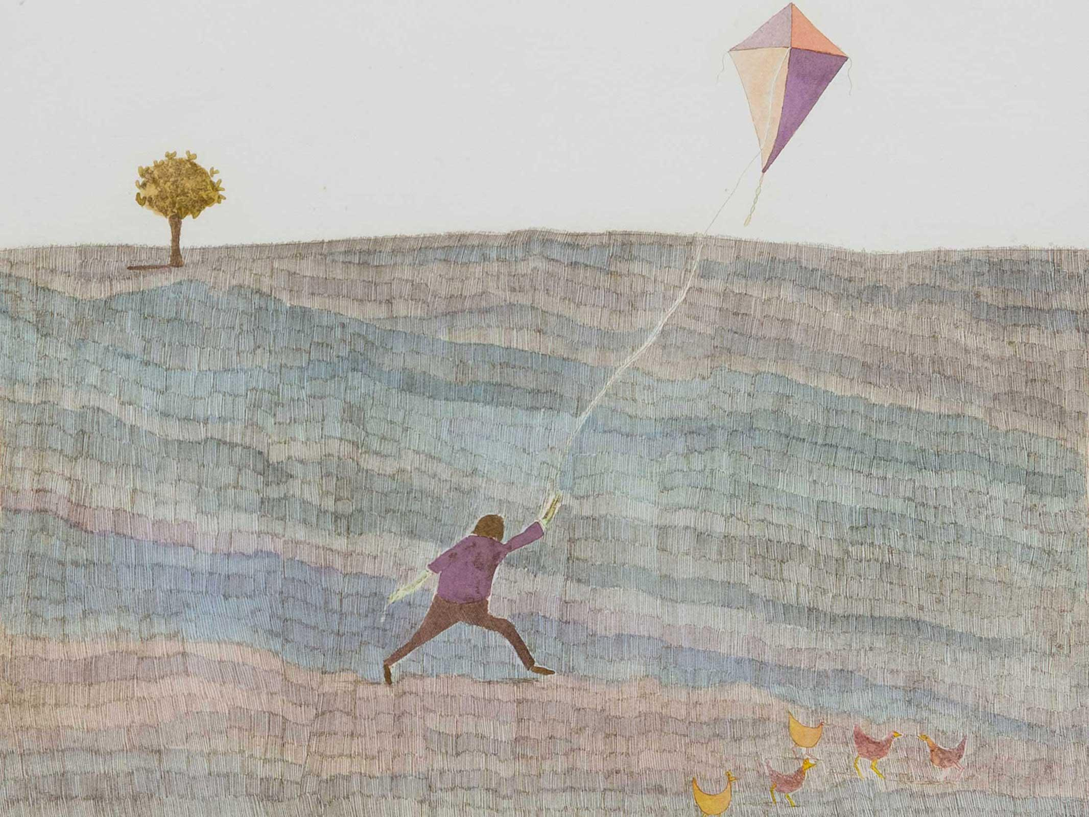 Pieter van der Westhuizen (SA 1931 - 2008) Etching, Kite Flyer, Signed Dated '95 & Numbered 54/120 in Pencil, 42 x 48