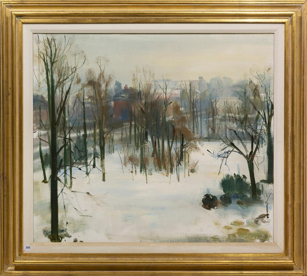 Clement Serneels (SA 1912 - 1991) Oil, Winter Forest, Signed & Dated '76, 68 x 80