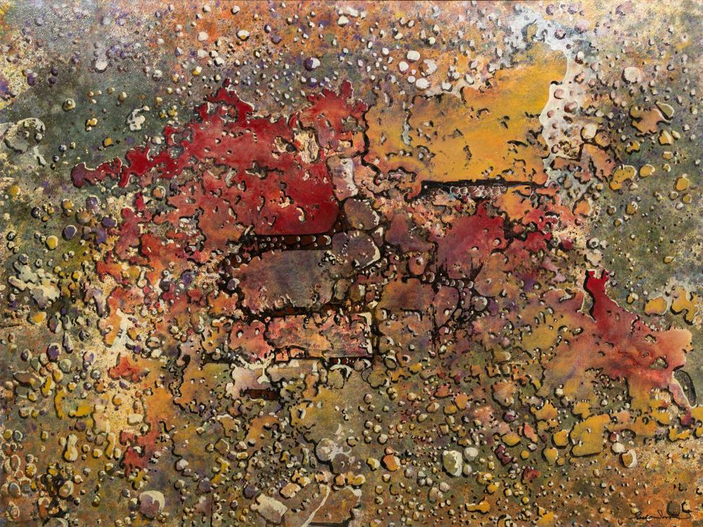 Gordon Vorster (SA 1924 - 1988) Oil, Abstract, Signed Titled Verso, 90 x 120