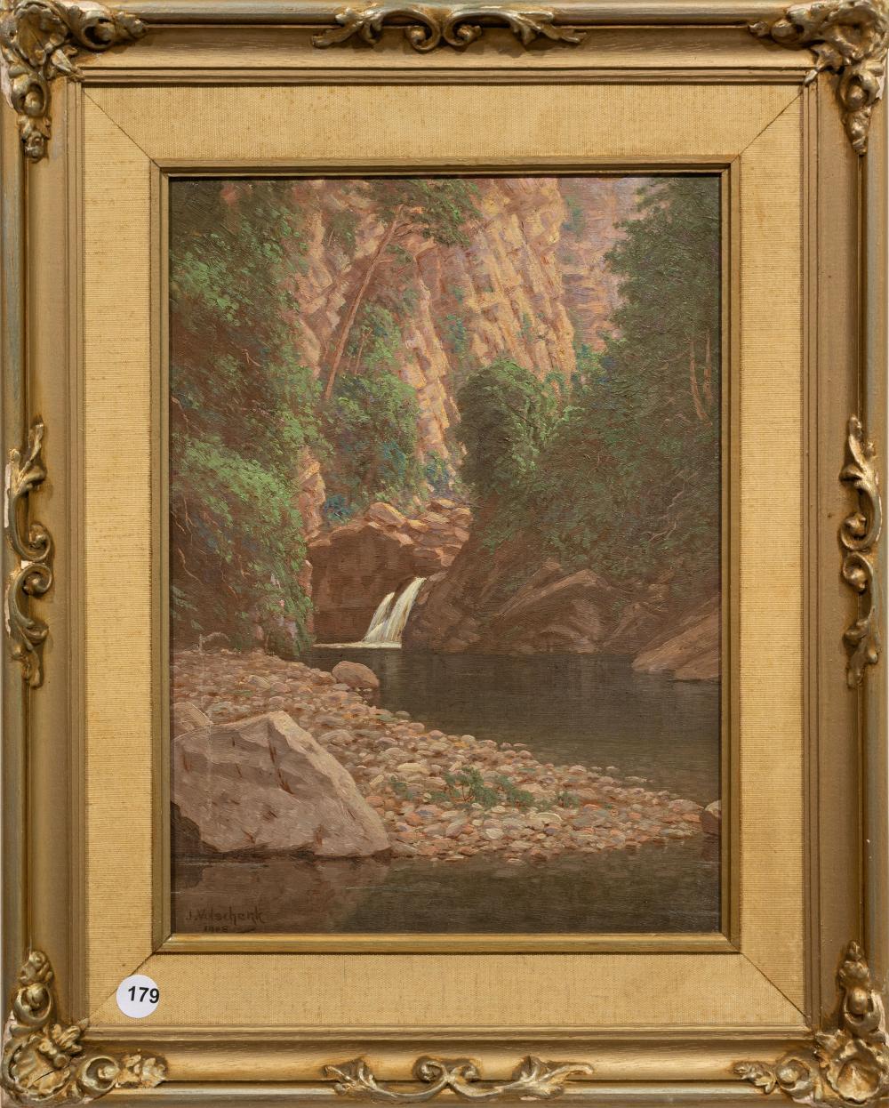 J.E.A. Volschenk (SA 1853 - 1936) Oil,