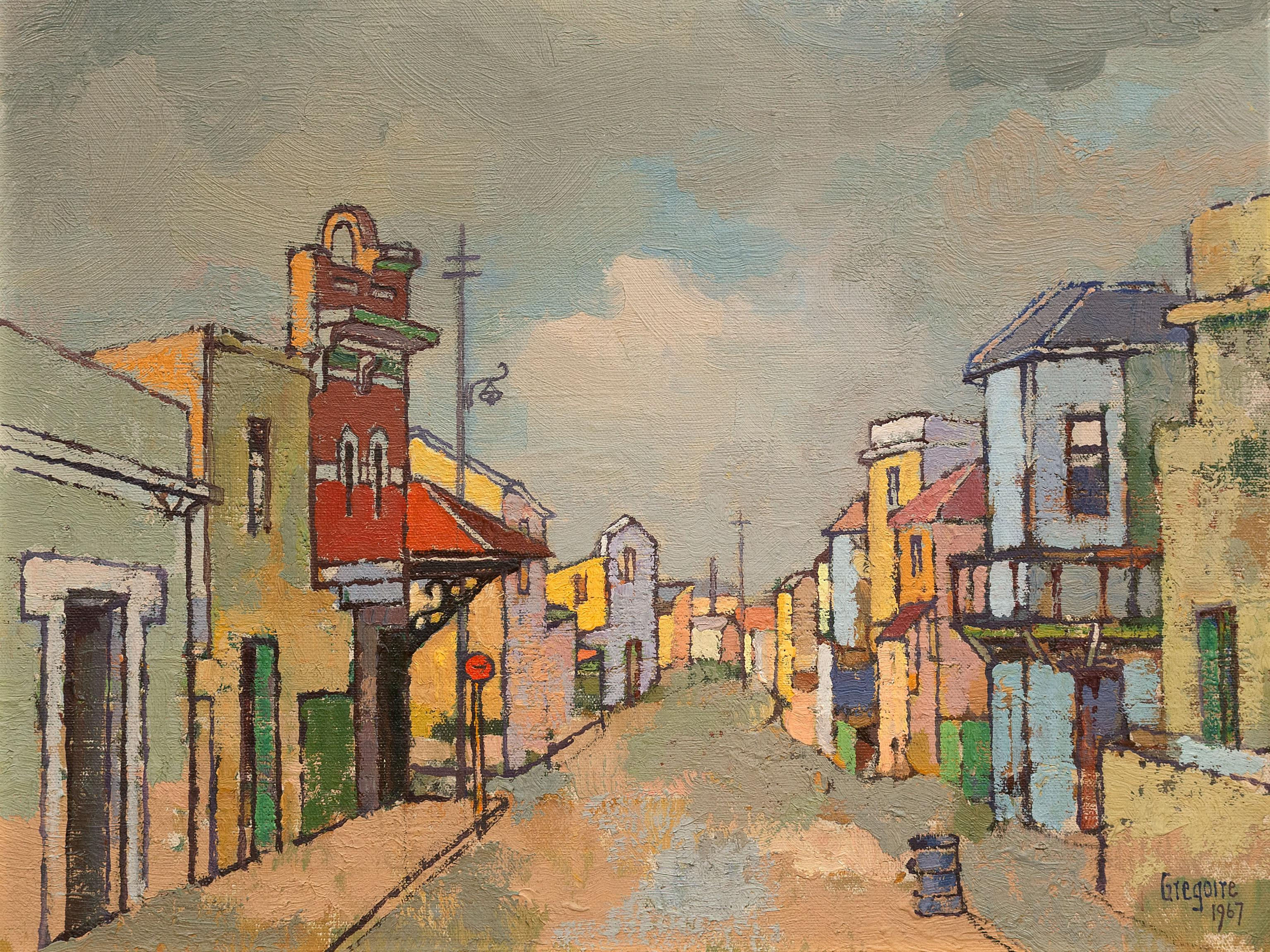 Gregoire Boonzaier (SA 1909 - 2005) Oil, District Six, Signed & Dated 1967, 40 x 50