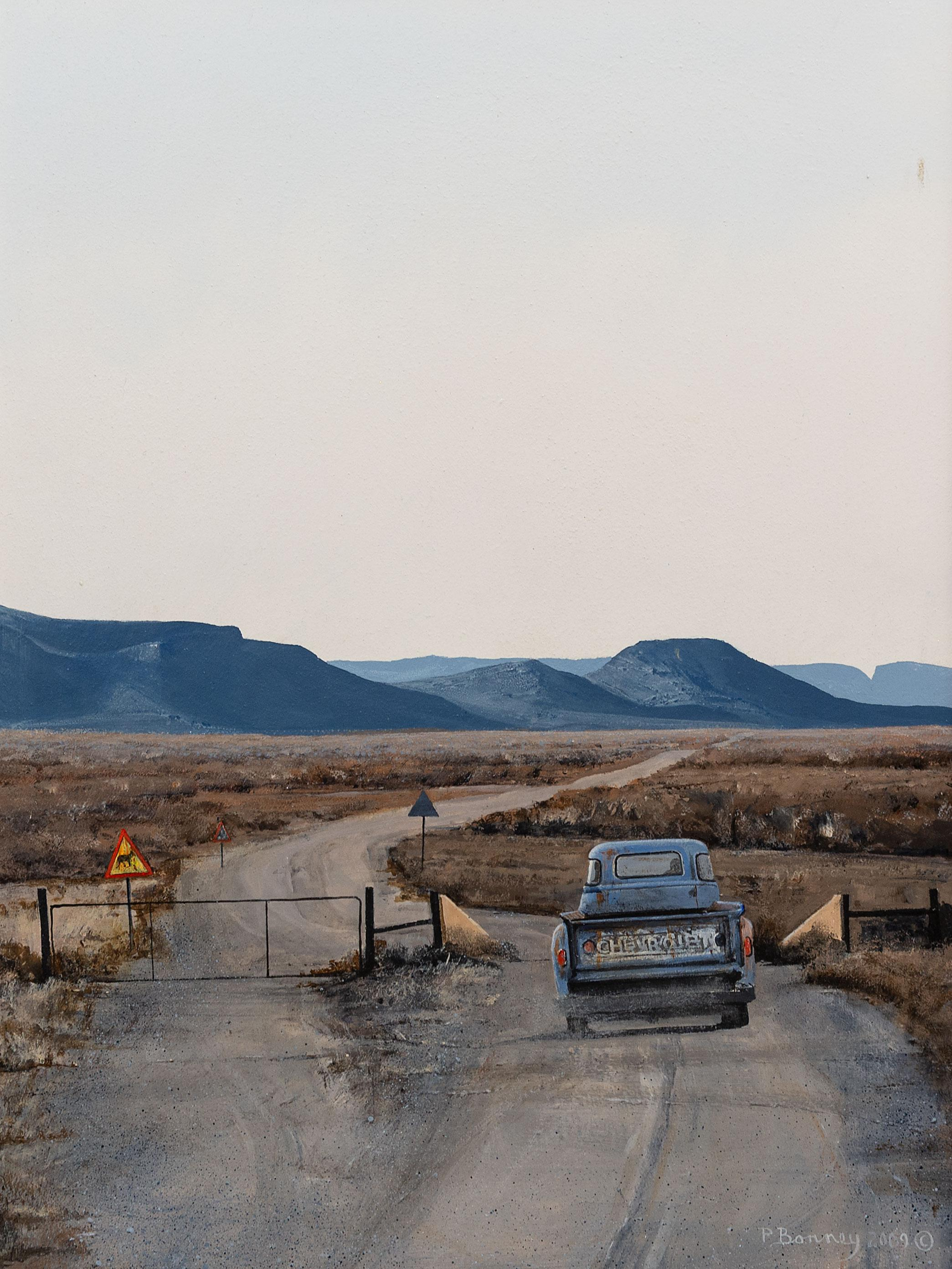 Peter Bonney (SA, born 1953) Oil, Landscape with Rural Road, Signed & Dated 2009, 58 x 43