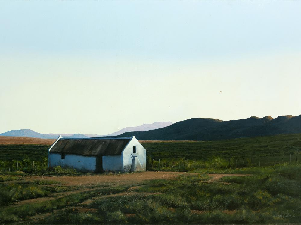 "Peter Bonney (SA, born 1953) Oil, ""Colesberg Dusk"", Signed & Dated 2005 Titled Verso, 84 x 120"