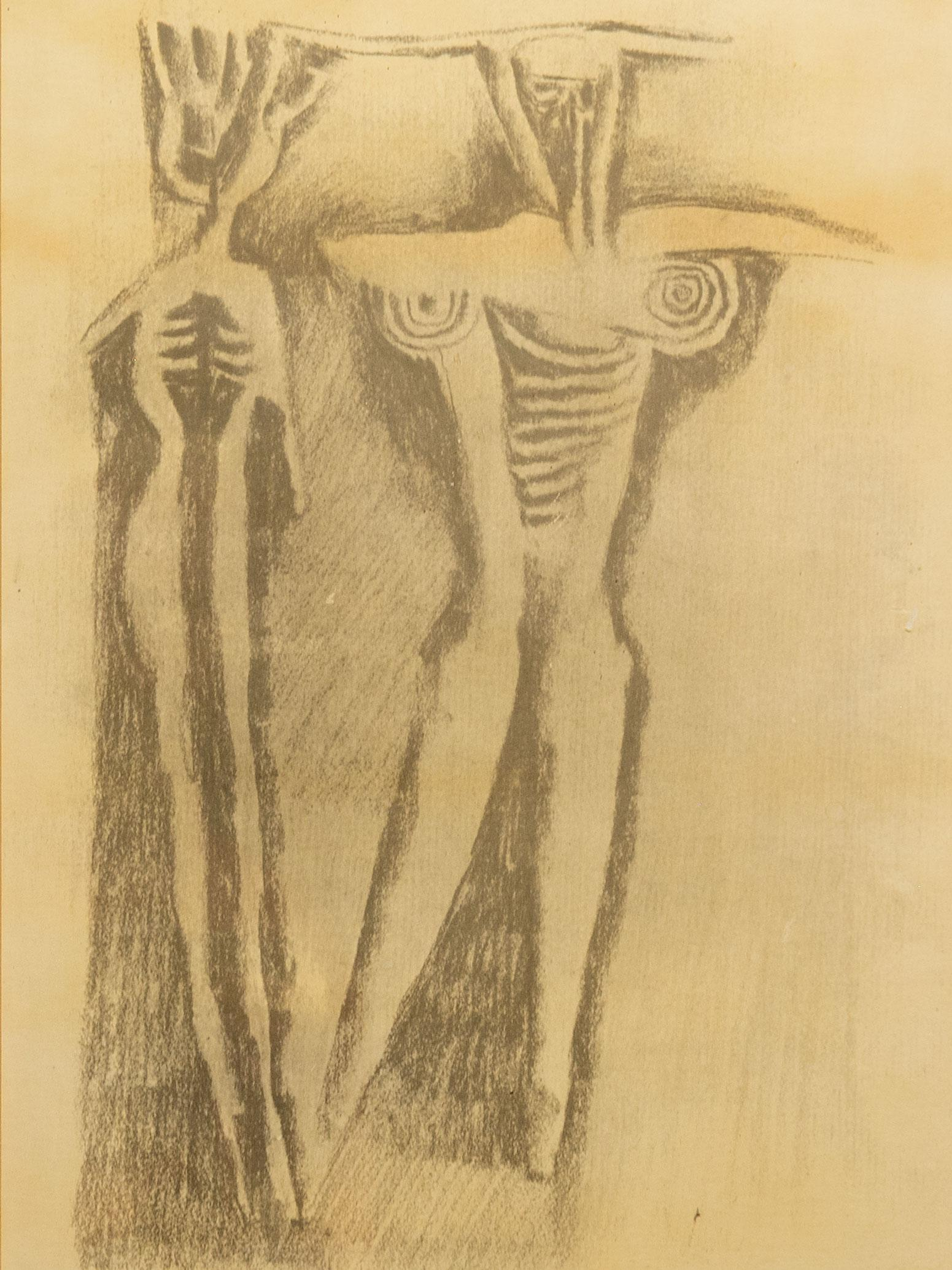 Cecil Skotnes (SA 1926 - 2009) Lithograph, Abstract Figures, Signed & Numbered 74/100 in Pencil, 40 x 26