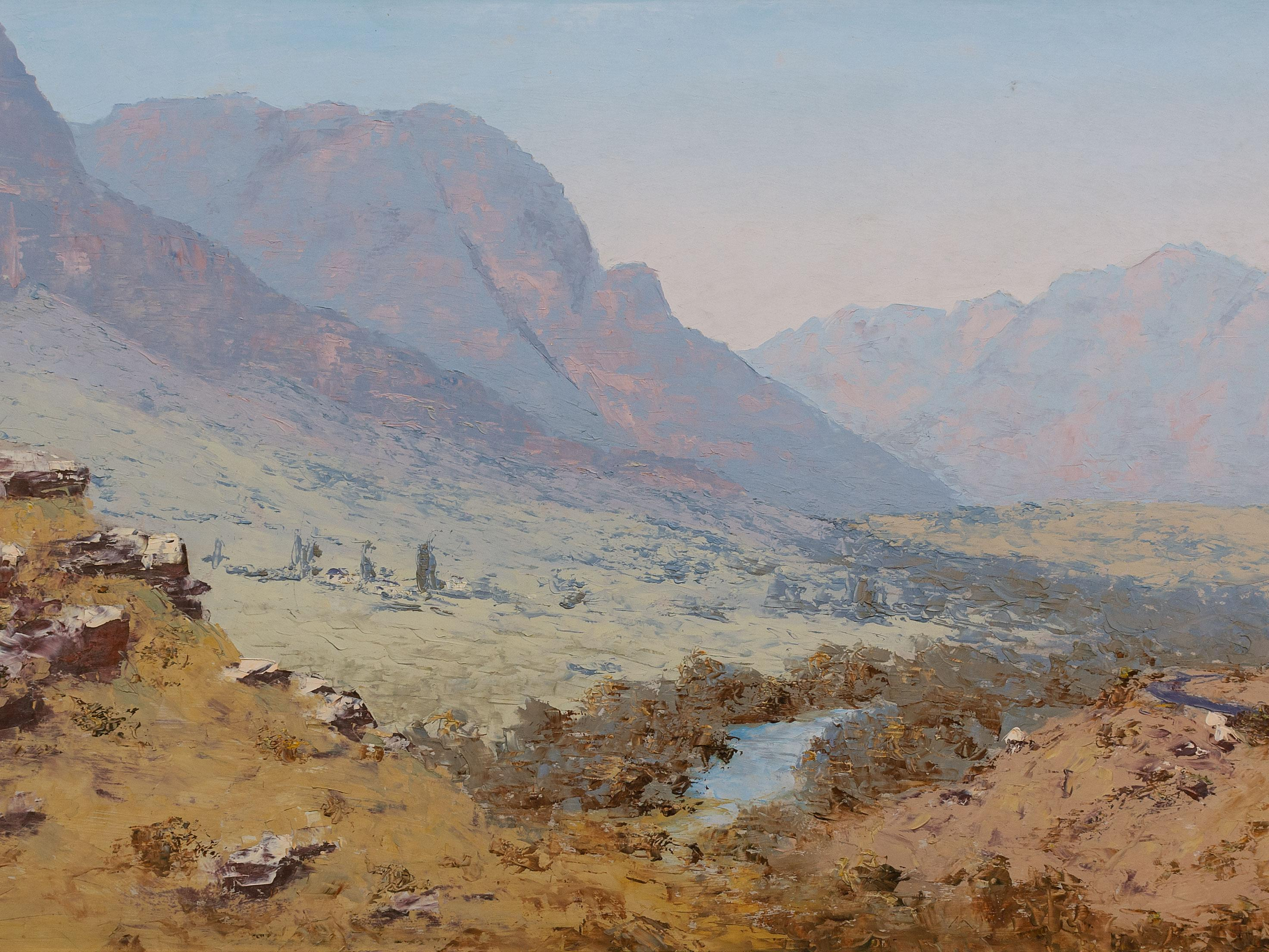 Henry Bredenkamp (SA, born 1935) Oil, Bushveld Landscape with Aloes, Signed, 45 x 90