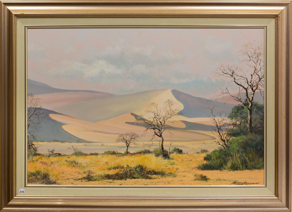 Francois Badenhorst (SA, born 1934) Oil, Desert Landscape, Signed & Dated 2004, 60 x 90