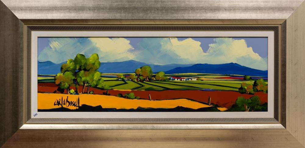 Carla Bosch (SA 20th C) Oil, Landscape, Signed, 30 x 90