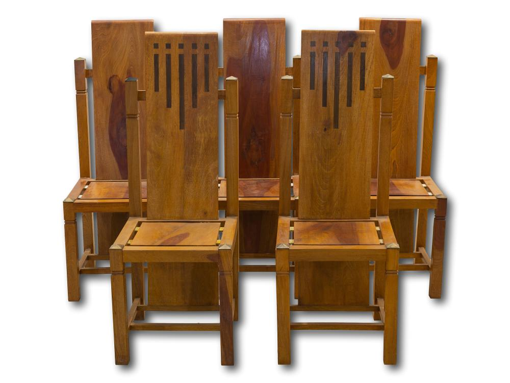 A Set of 5 Mid 20th Century Dining Chairs,