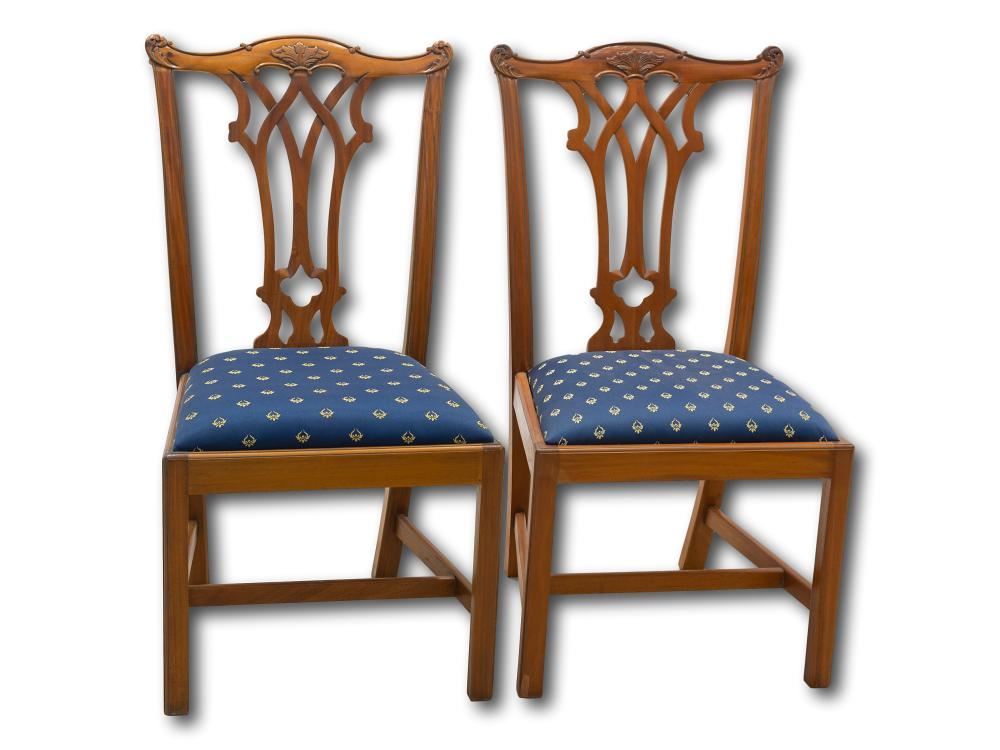 A Pair of Mid 20th Century Dining Chairs,
