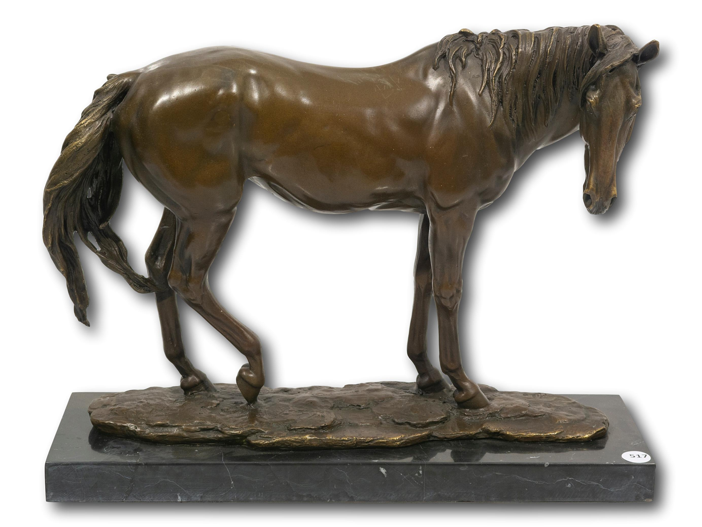 After Milo (French, born 1939) Bronze, Horse, Signed, 34cm including base