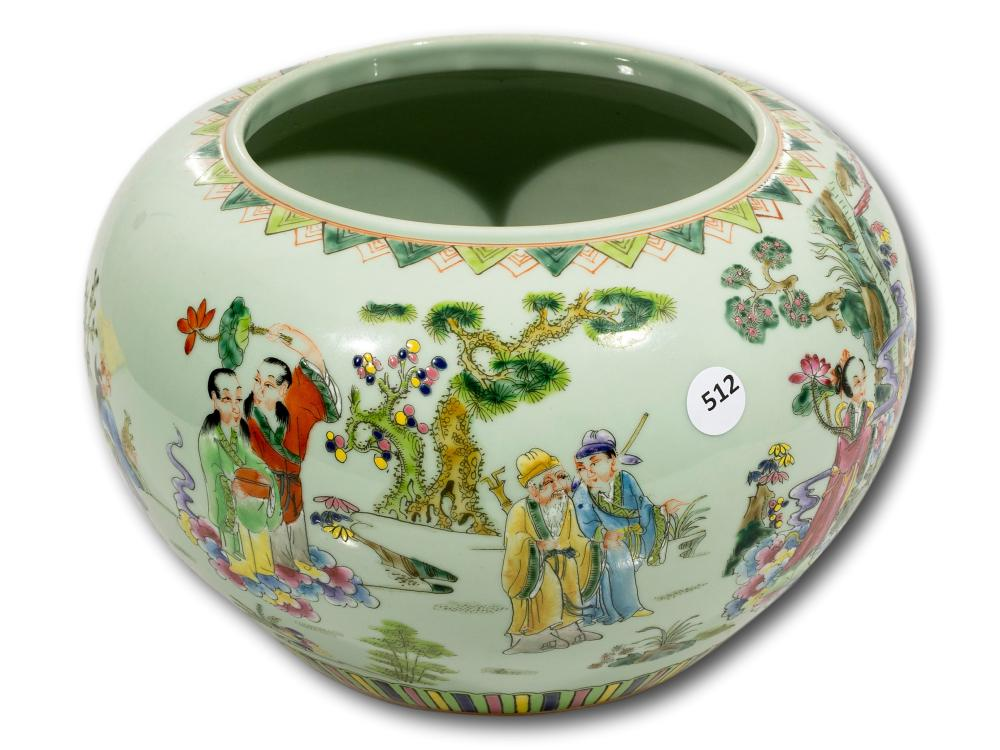 A Famille-Rose Chinese Vase, 25cm