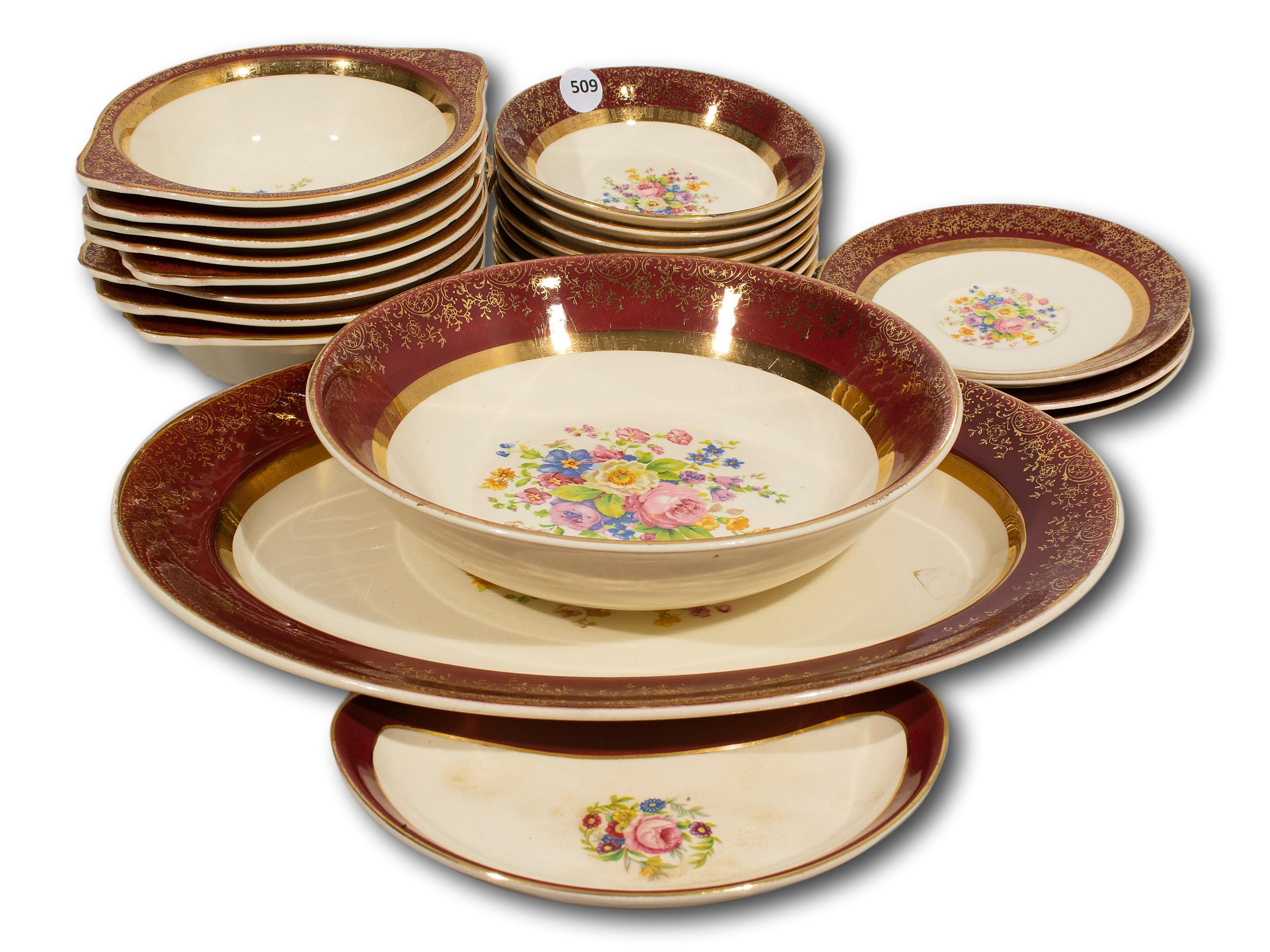 "A 22 Piece ""Aristocrat"" Part Dinner Service by Salem China Co., USA"