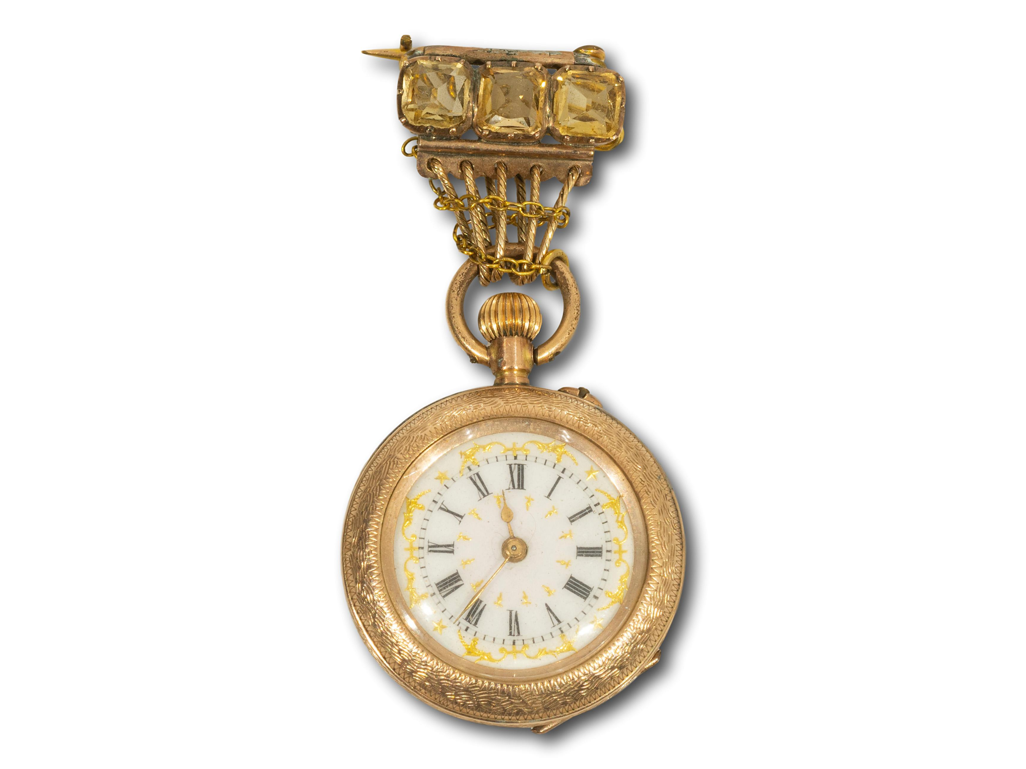 A Ladies Pocket Watch, A/F, total weight 21.8g