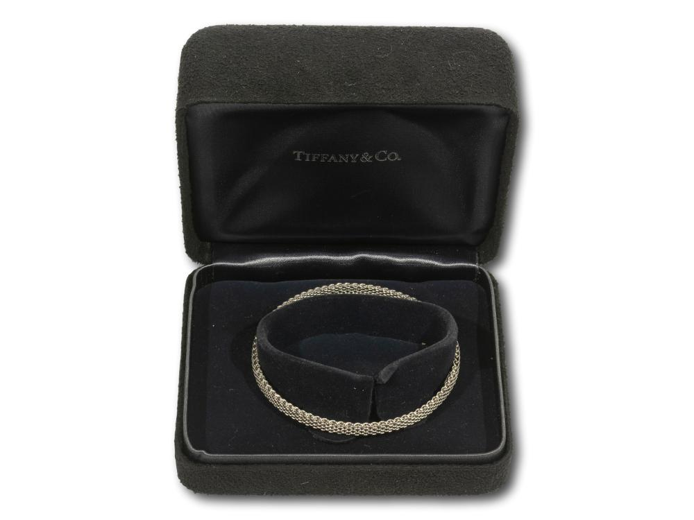 A Tiffany & Co. 18kt White Gold Bracelet, total weight 12.9g