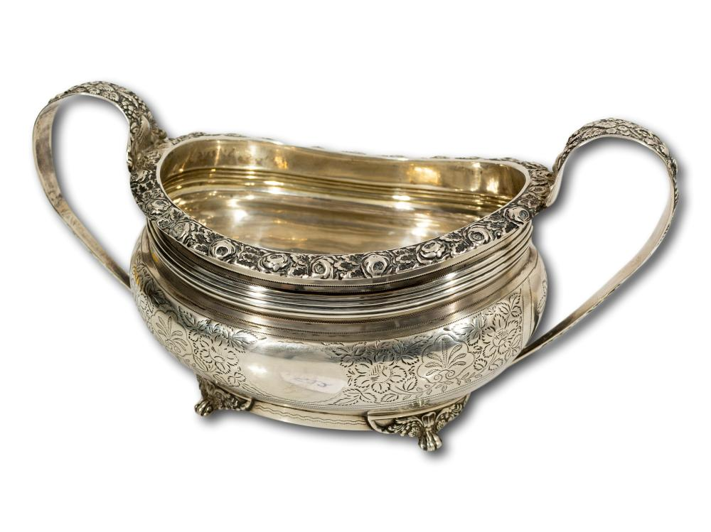 A Hallmarked Silver Bowl by Naphthali Hart of London, 1819, total weight 357g