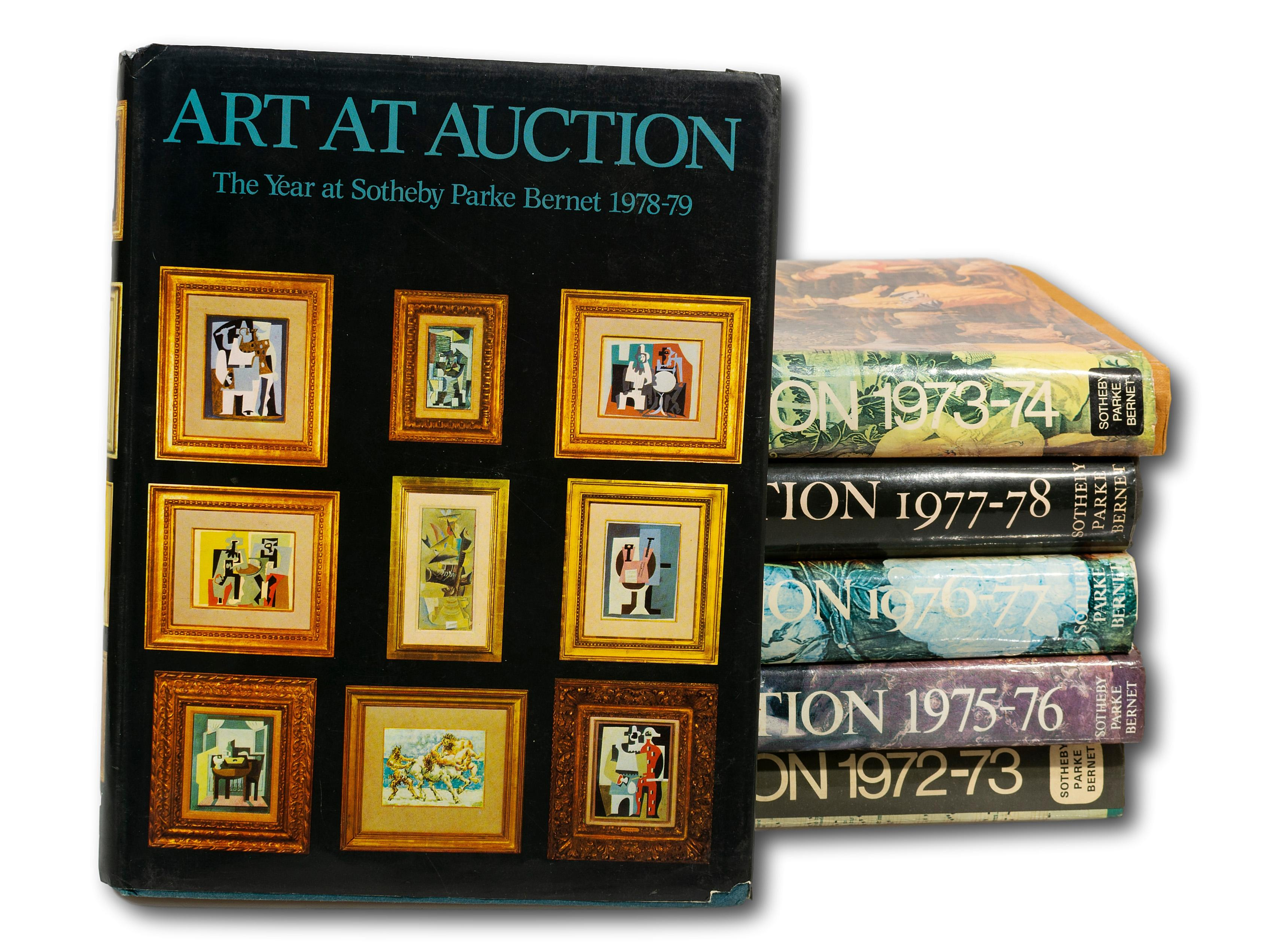 "A Collection of 8 ""Art at Auction"" Books from the 1970's"