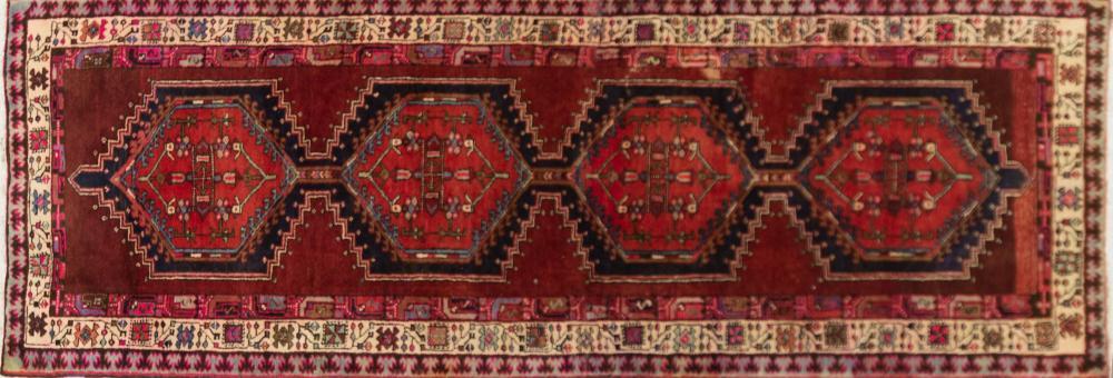 A Persian Hand Knotted Azari Runner, 318 x 112